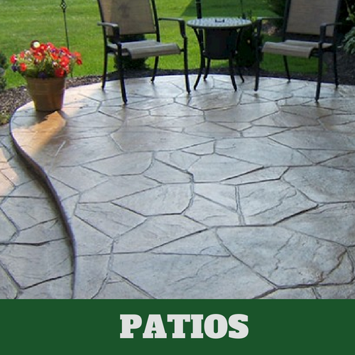 Residential patio in Franklin, TN with a stamped finish.